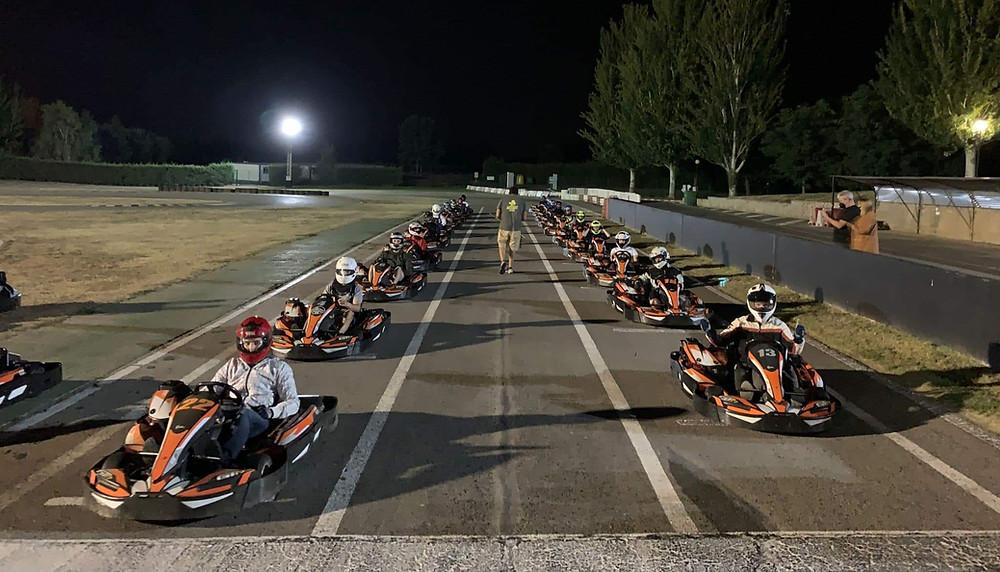 Participantes en el trofeo Iron Man Karting
