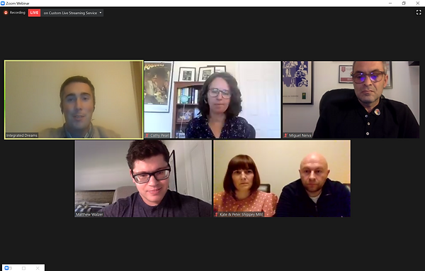 Screenshot of Talk with speakers from Google, ColorADD, The Shippey Campaign and Matthew Walzer, moderated by José Soares from Integrated Dreams
