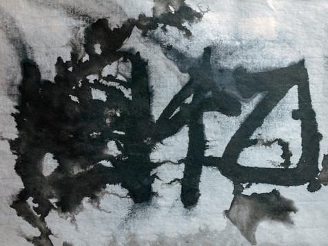 2019 30x21cm 墨、紙、生活水