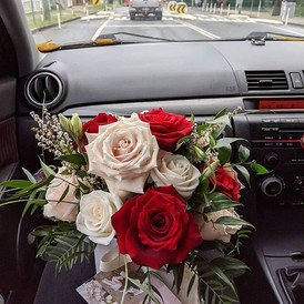going for a bit of a drive 🌹 #bridalbou