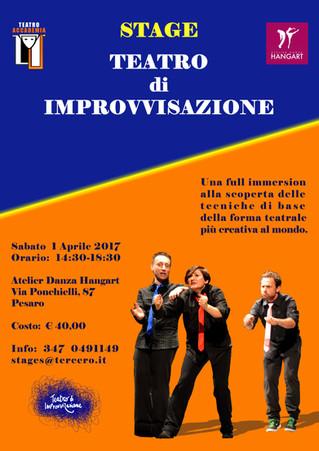 Stage di Teatro di Improvvisazione, incontro preliminare sabato 1° aprile