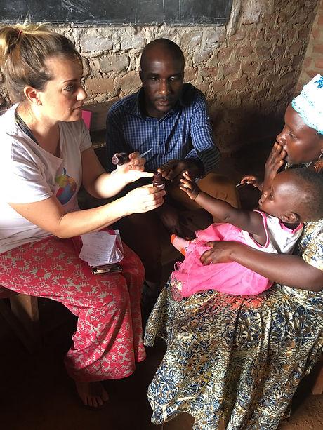 Kellie working in Jinja, Uganda, 2018