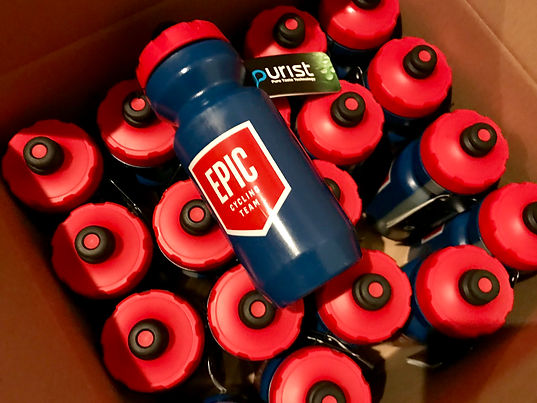 EPIC Cycling Team Specialized Purist MoFlo water bottles and swag. Purist technology shields the inside of the bottle from any bad taste, mold, or staining. Nothing sticks, so your bottle stays clean and your water tastes pure. EPIC Cycling Team organizes road and mountain bike group rides for Utah team members based in Salt Lake and Utah Counties, and virtual cycling at Zwift.