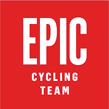 Epic Cycing Team logo square color red white. EPIC Cycling Team organizes road and mountain bike group rides for Utah team members based in Salt Lake and Utah Counties, and virtual cycling at Zwift.