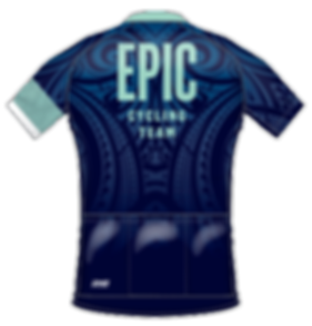 Back view of 2018 Cycling Kit Jersey Design, DNA Cycling Biofit, for EPIC Cycling Team. Epic organizes road and mountain bike group rides for Utah team members based in Salt Lake and Utah Counties, and virtual cycling at Zwift.