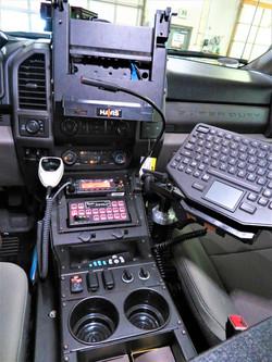 Console in Cheyenne PD Patrol F150