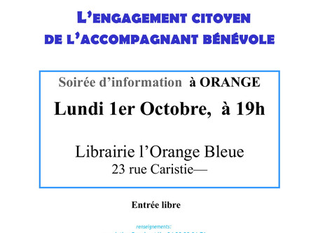 SOIREE D'INFORMATION À ORANGE