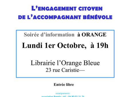 SOIREE D'INFORMATION À ORANGE