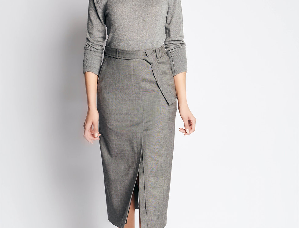 Pencil Skirt Costume Grey