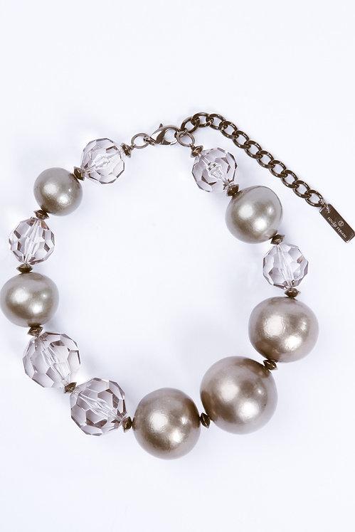 Precious Pearls Necklace Matte Grey