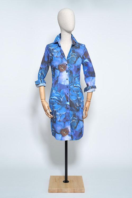 Tunic Blue Flower