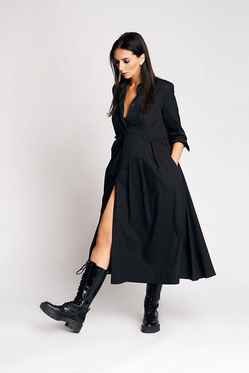 Nina Dress Black Cotton