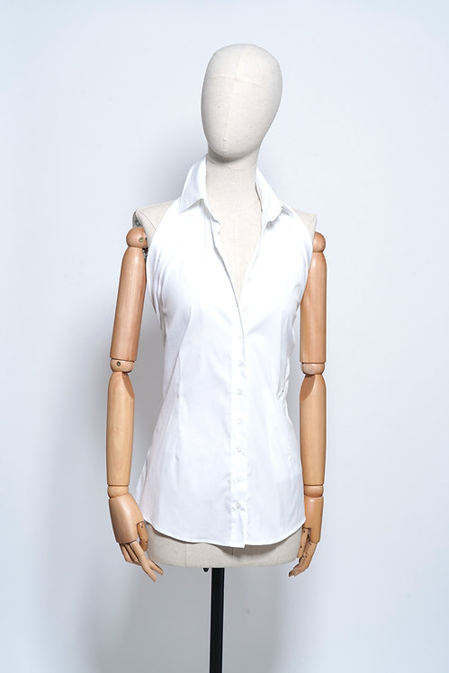 Halter Shirt White