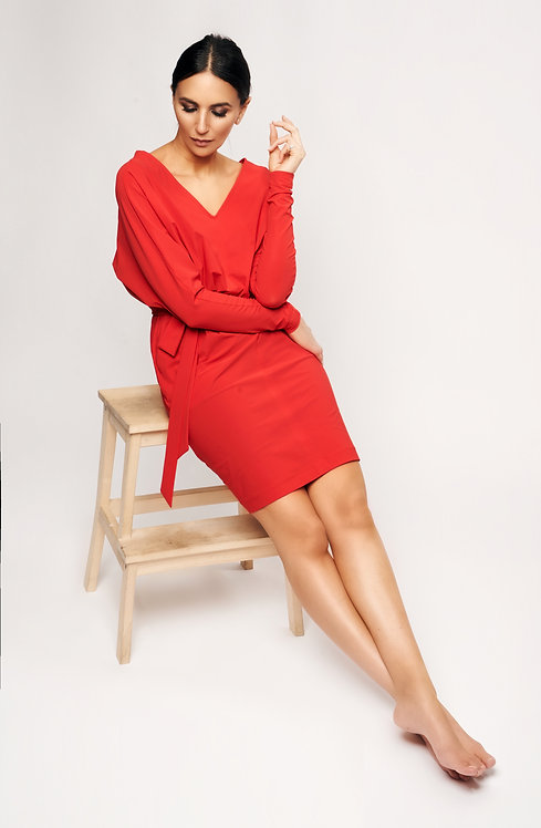 Jersey Dress Red