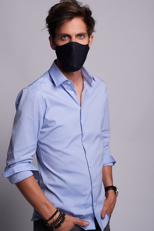 Basic Face Mask Man Blue Black