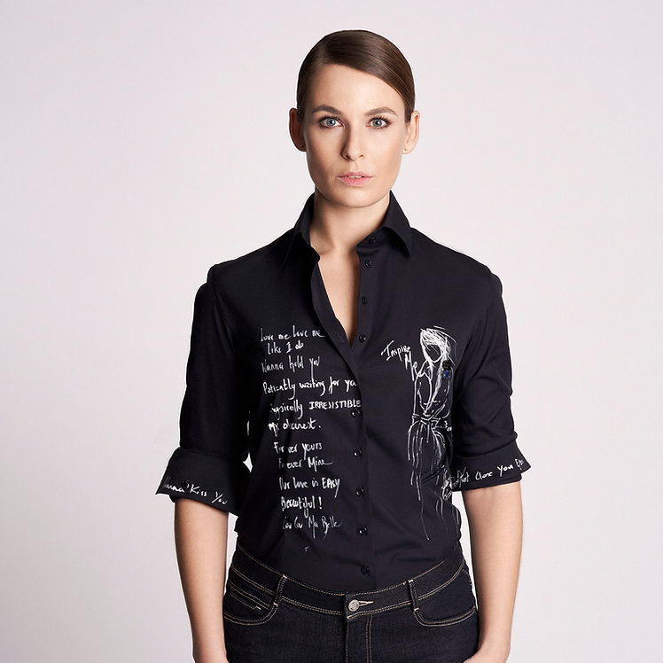 Nina Art Shirt Black