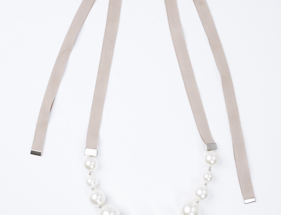 Necklace Ribbon/Pearl