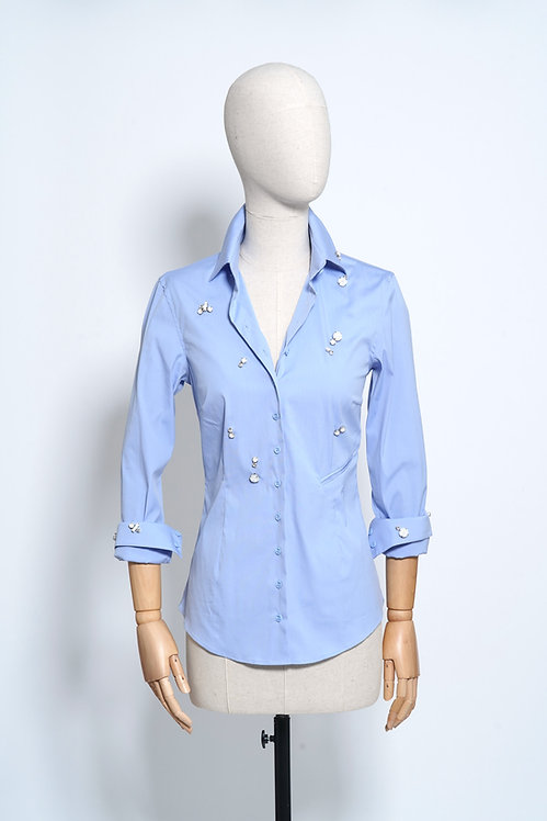 Nina Shirt Crystal Light Blue