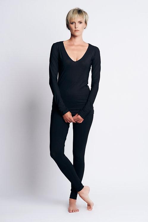 Jersey V-Neck Black