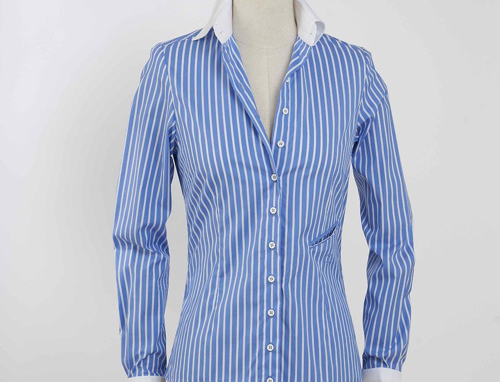 Basic Shirt Stripe - White Collar
