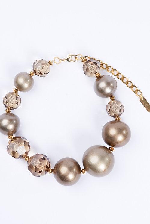 Precious Pearls Necklace Matte Gold