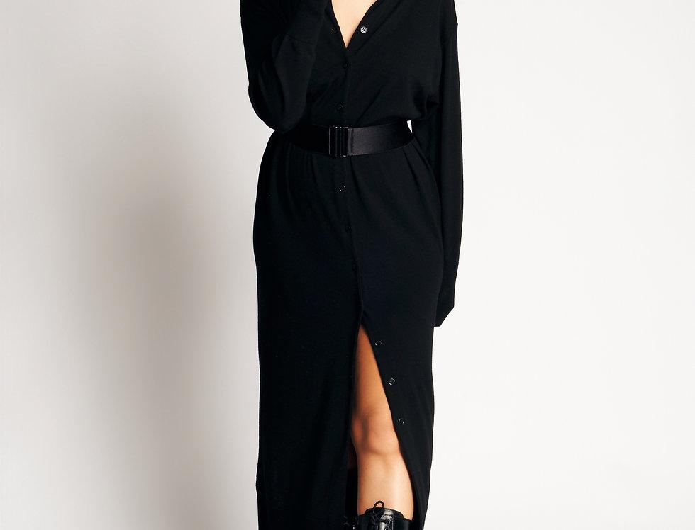 Tunic Knit Long Black