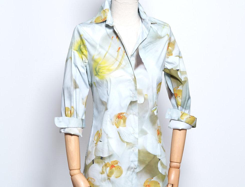 Basic Shirt Yellow Flower