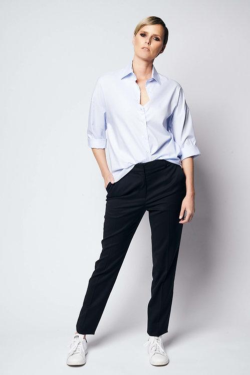 Loose Shirt Light Blue Cotton