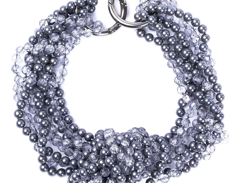 Statement Necklace Grey/Blue