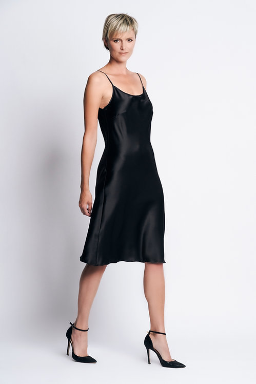 Slipdress Silk black