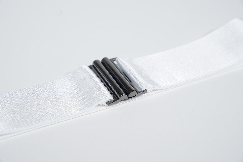 Elastic Waist Belt Ivory