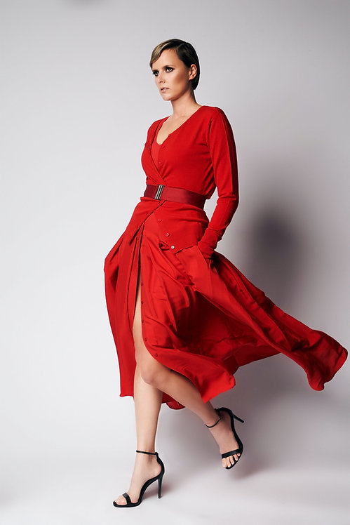 Elastic Waist Belt Red