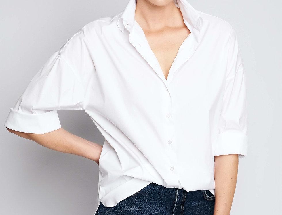 Loose Shirt White Cotton