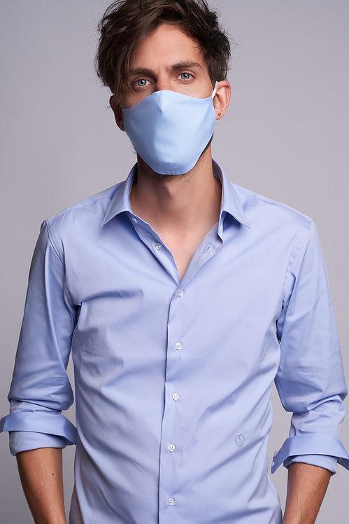 Basic Face Mask Man Light Blue