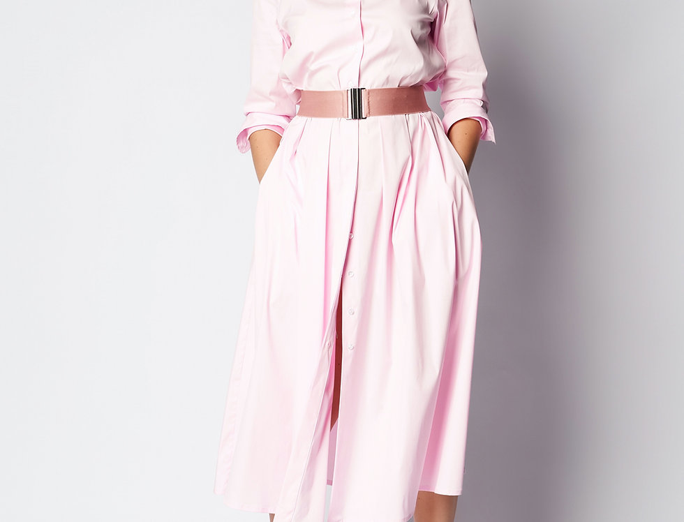 Nina Dress Light Pink Cotton