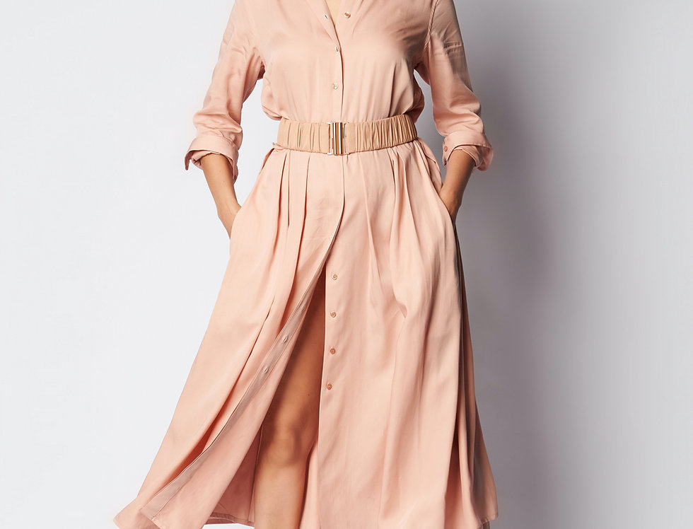 Nina Dress Skin Cotton