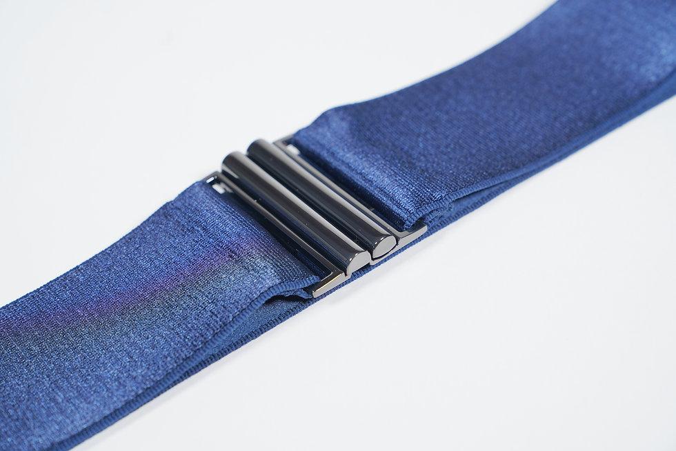 Elastic Waist Belt Blue
