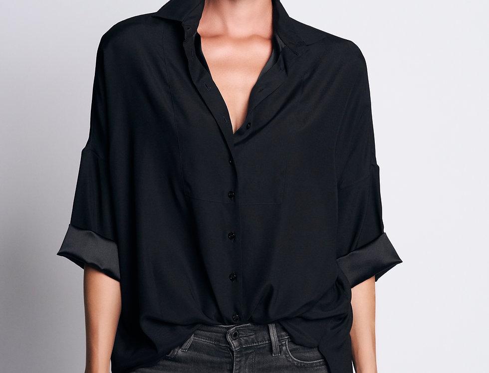 Loose Shirt Silk Black