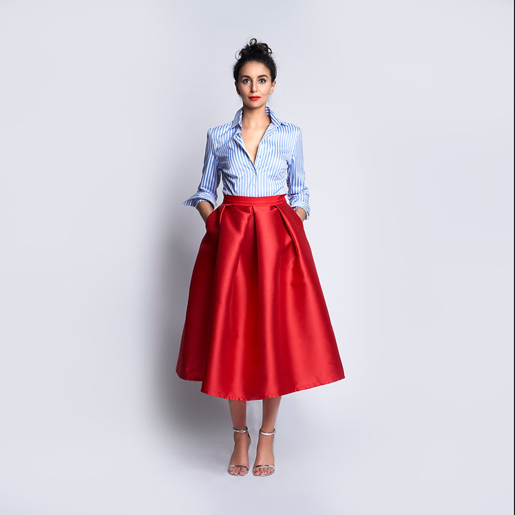 Sofia Skirt Red