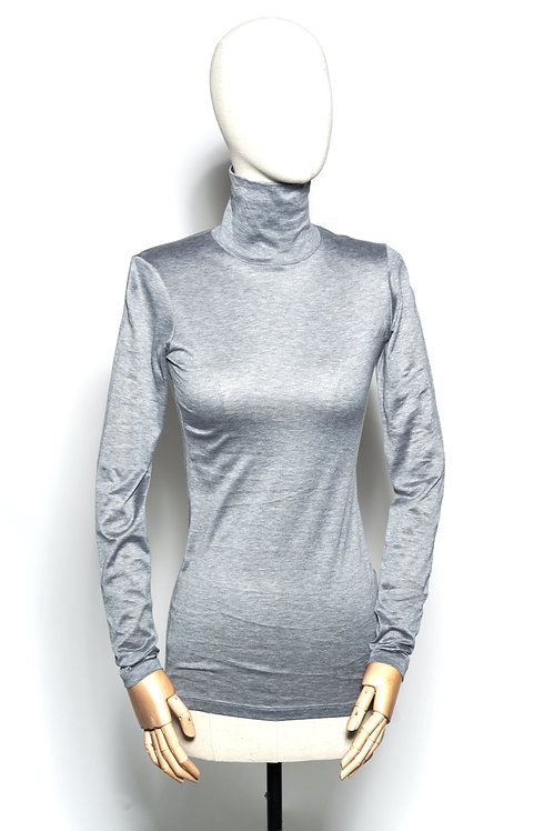Jersey Turtle Neck Grey