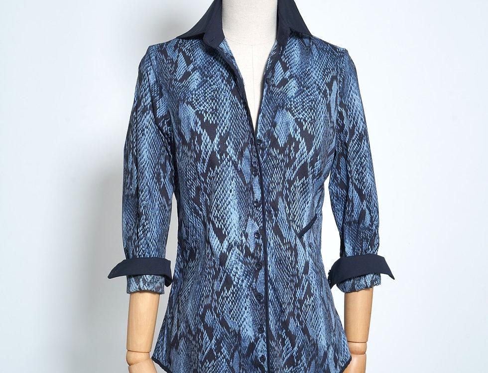Snake Shirt Blue