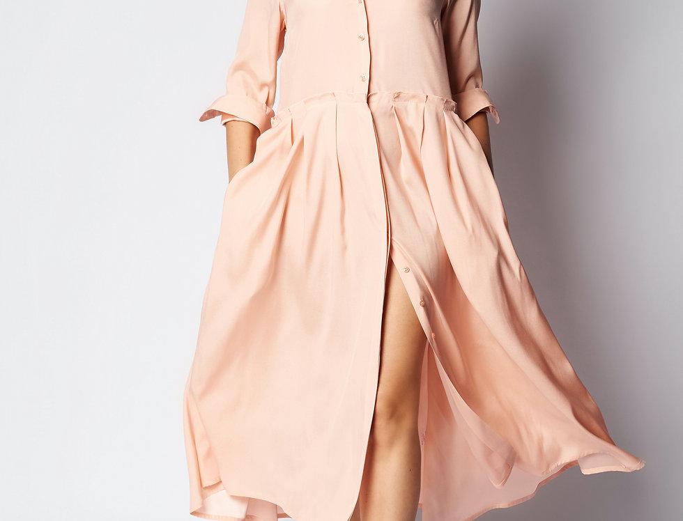 Nina Dress Skin Silk