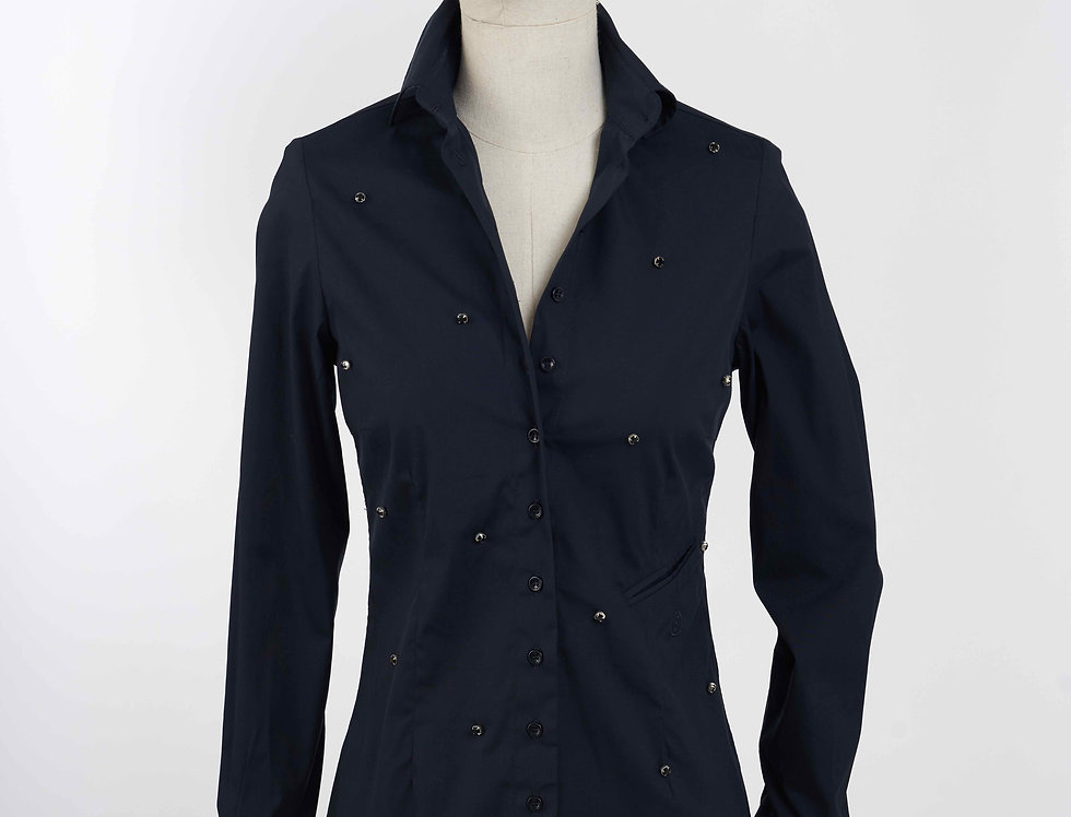 Basic Shirt Crystal Blue Black