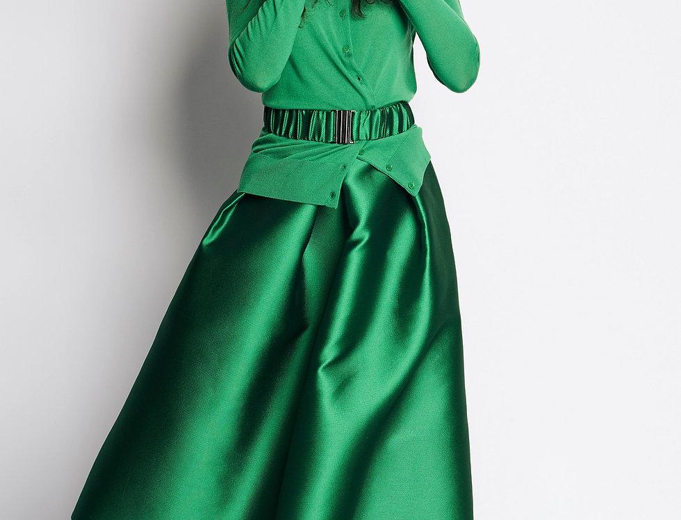 Elastic Waist Belt Frown Green