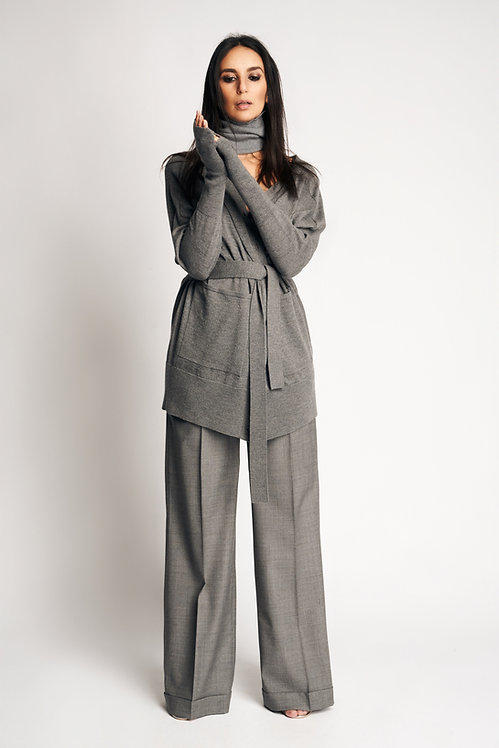 Knit Collar Grey
