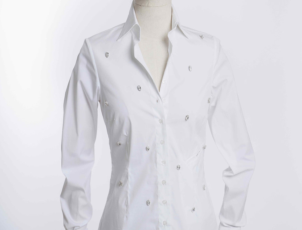 Basic Shirt big Crystal White