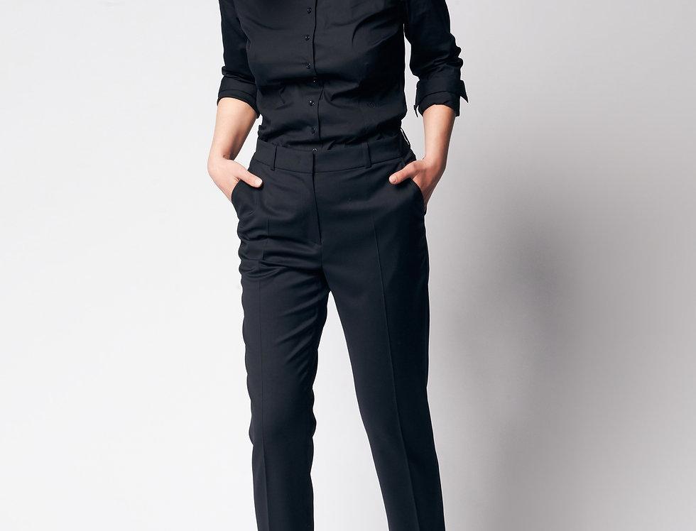Basic Shirt Nina Blue Black