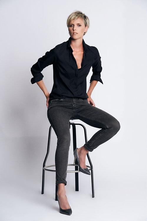 Sarra Silk Black