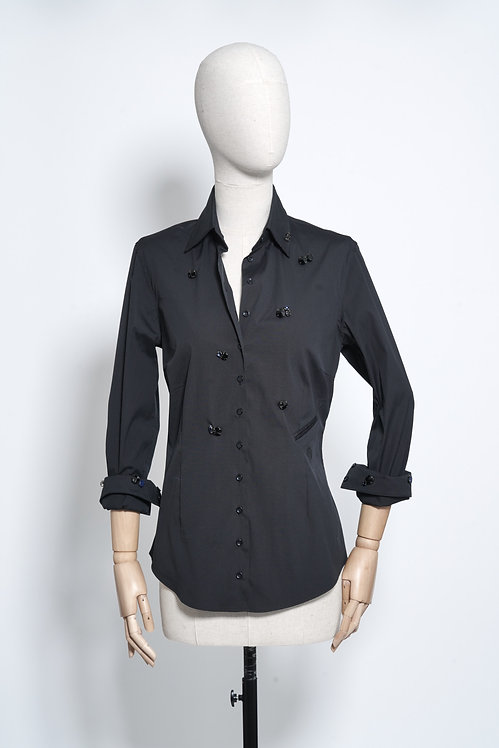 Nina Shirt Crystal Black
