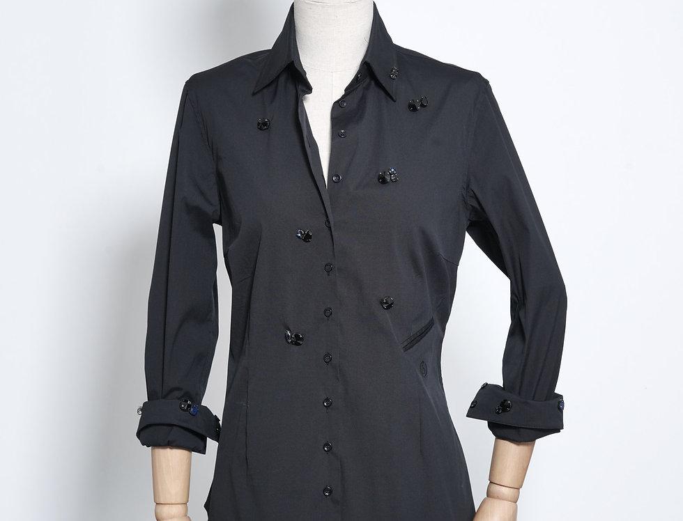 Nina Shirt Crystal Black